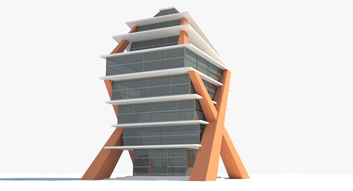 3D air art glass building model