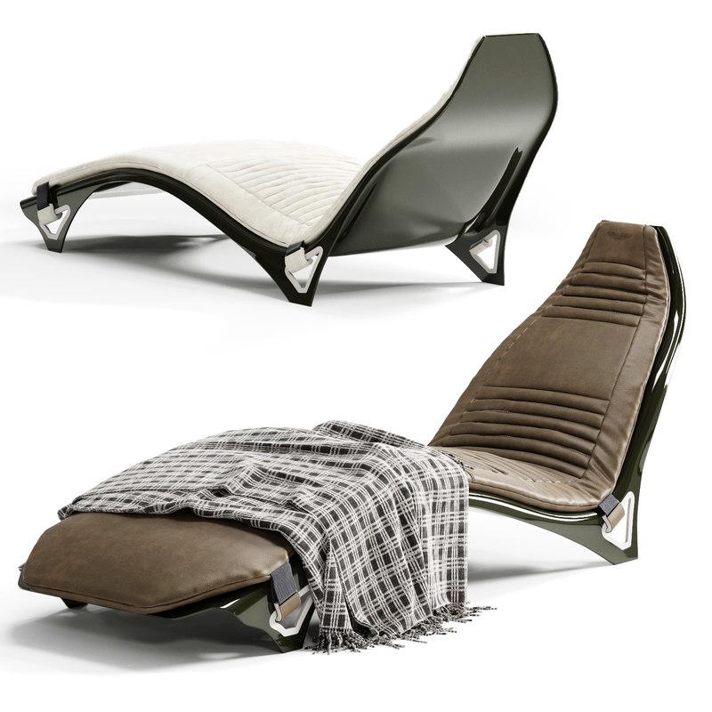 3D astonmartin v007 chaise longue