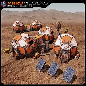 3D mars base model