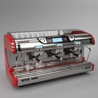 Franke coffee machine T600 TA 3 groups red