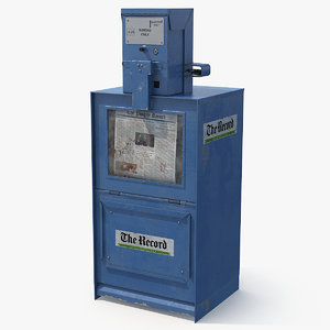 newspaper dispenser 3D model