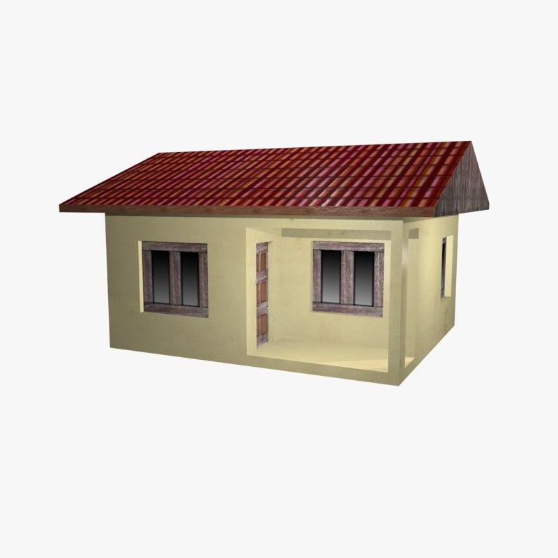 simple house 3D model