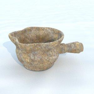 3D pot antique 3