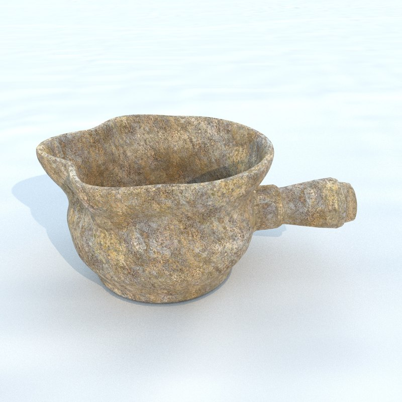 3D pot antique 3