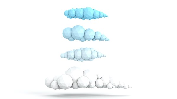 cartoon clouds pack 3D