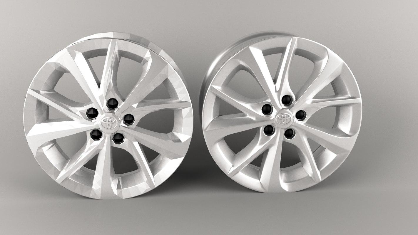 3D wheel toyota corolla model