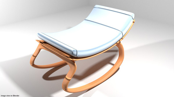 baby chair rocking 3D model