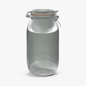 glass jar lock 07 3D model