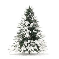 spruce tree snow 1 3D