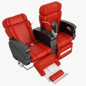 class airplane chair 3D model