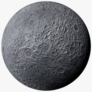 3D model moon photorealistic