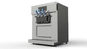 3D soft ice cream machine model