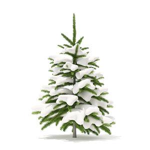 3D fir tree snow 0