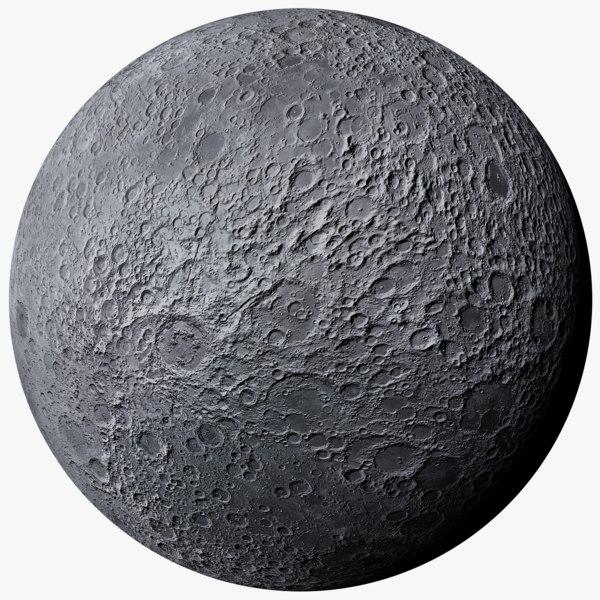 moon photorealistic 3D model
