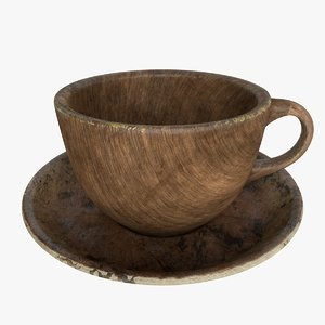 coffee cup wood model