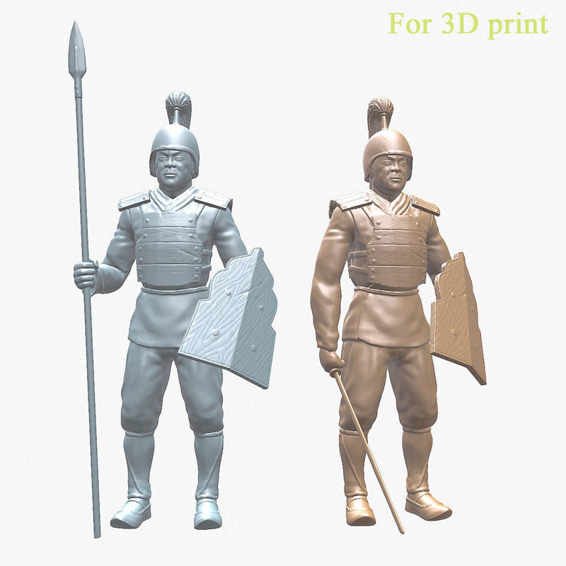 3D chinese warrior print model