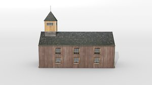 3D model scandinavian chapel