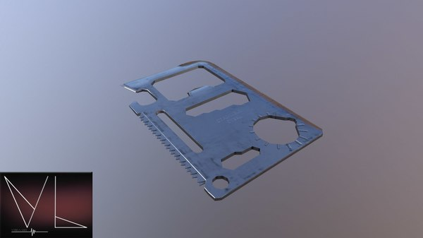 multitool card multi 3D model