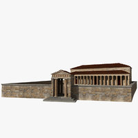 chalkotheke treasury pillars 3D