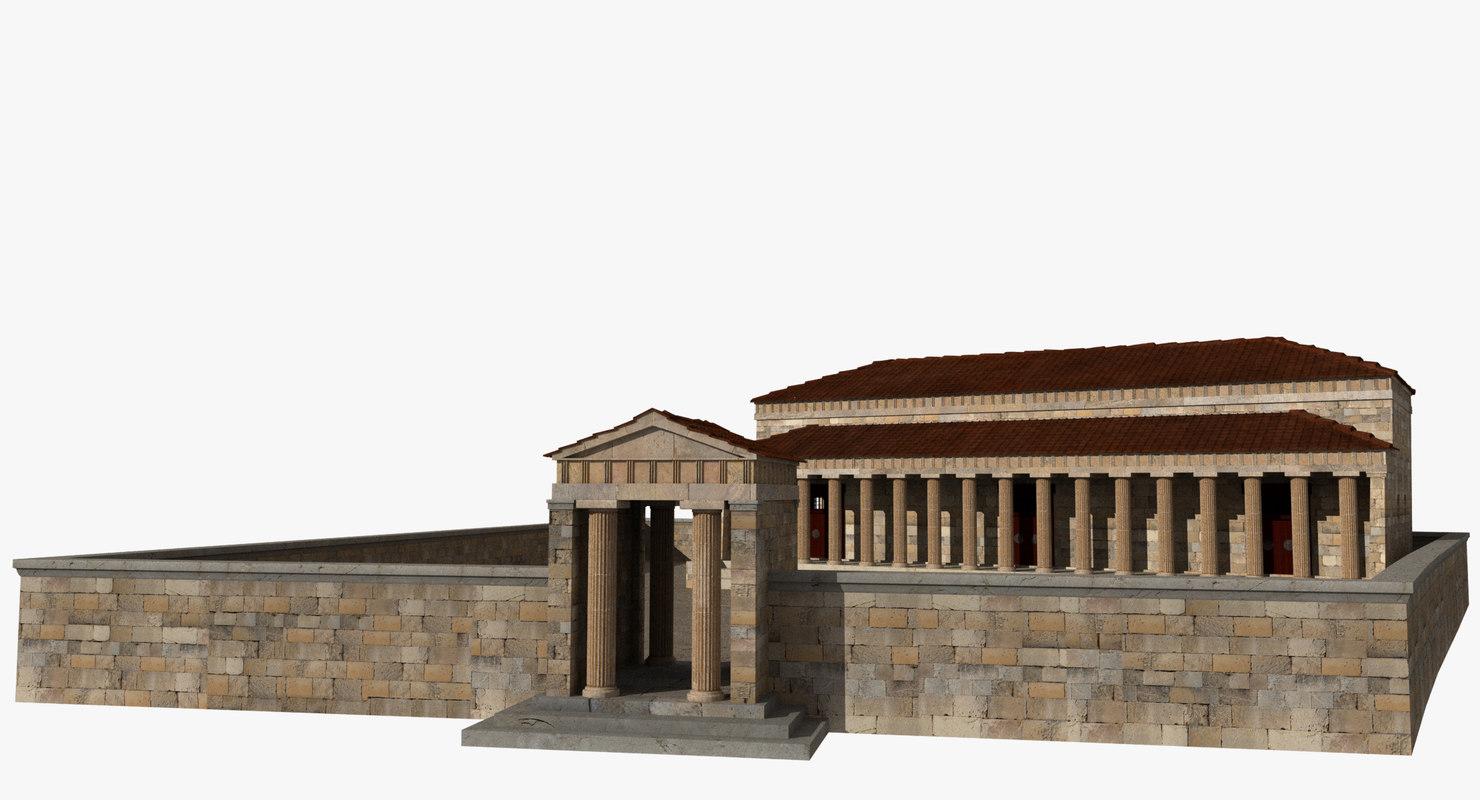 chalkotheke treasury pillars 3D