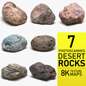 photoscanned desert rocks 3D model