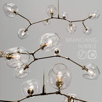 Branching bubble 8 lamps by Lindsey Adelman CLEAR GOLD(1)
