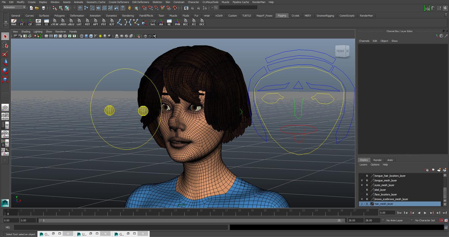 3D gameready facialrig
