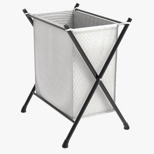 3D folding hamper laundry basket model
