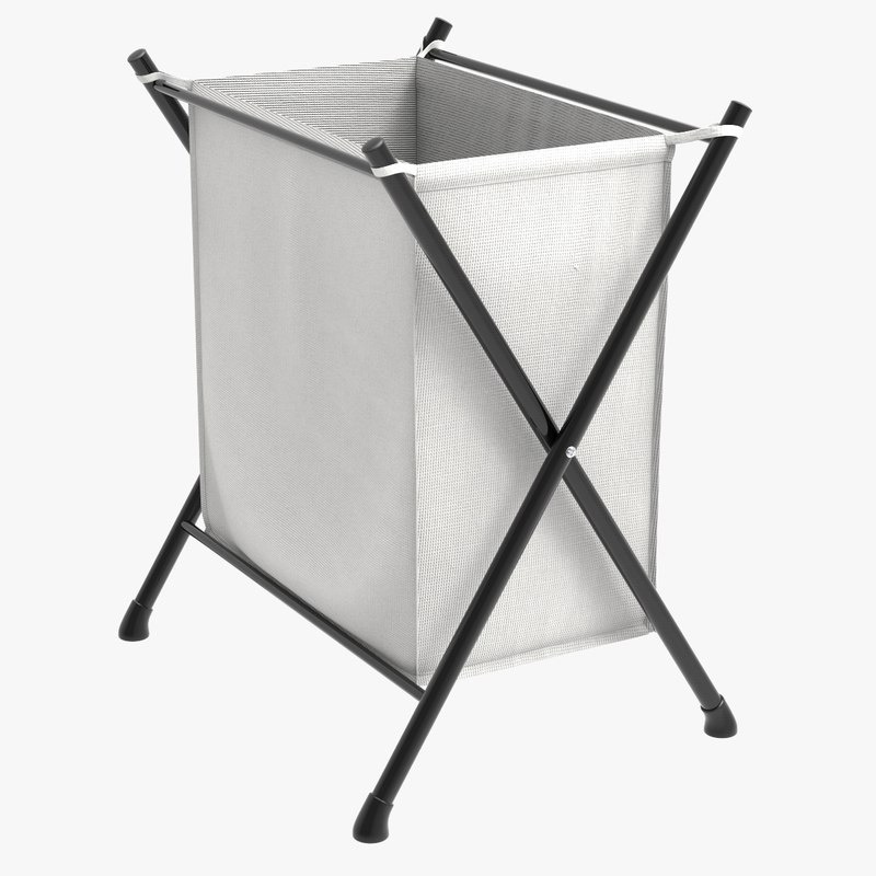 3D folding hamper laundry basket model
