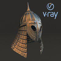 3D medieval helmet modeled