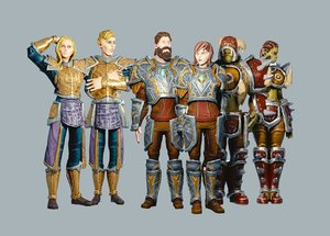 classic role playing races 3D model