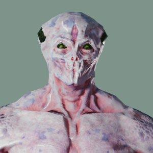 3D alien defender