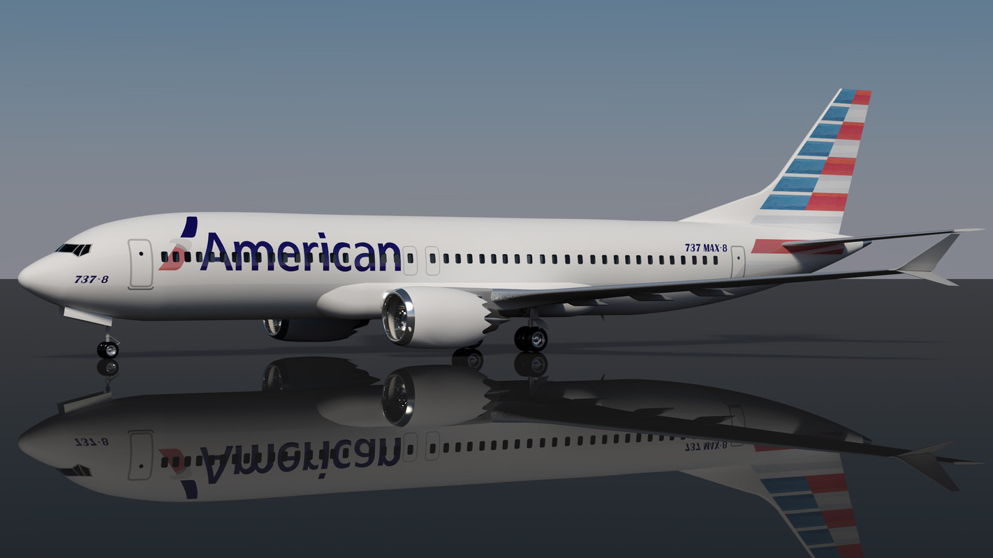3D american airlines 737 8