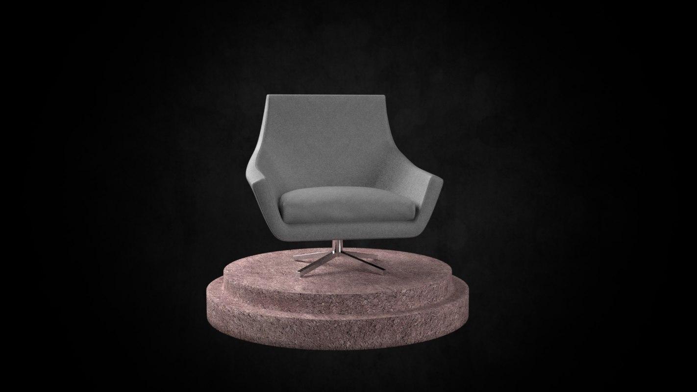 3D architecture chair