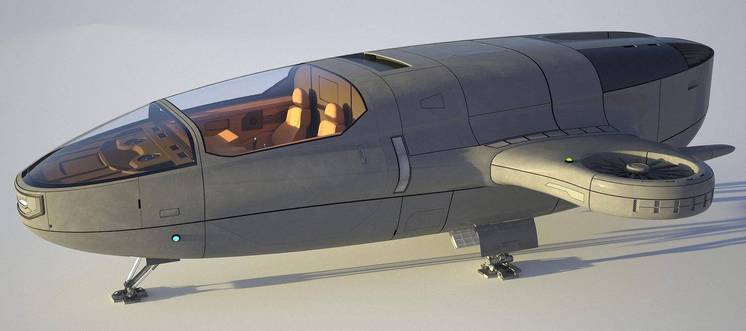 3D flying shuttle model