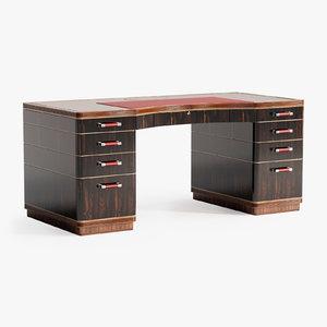 3D linley riviera rouge desk