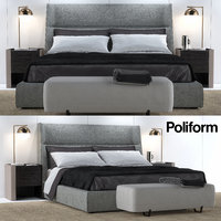 bed poliform letto 3D