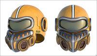 helmet sci-fi model