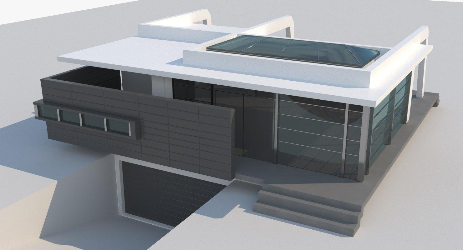 tech grey house 3D