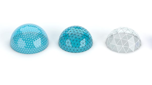 geodesic domes pack 3D model