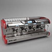 Franke coffee machine T600 TA 4 groups red