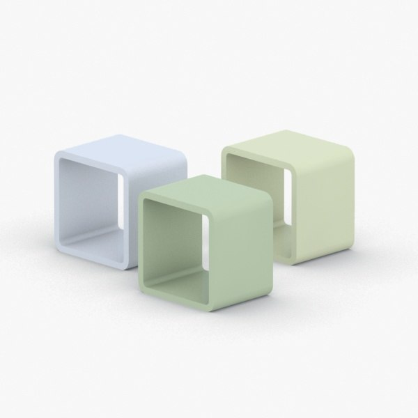 3D model - seats modern office