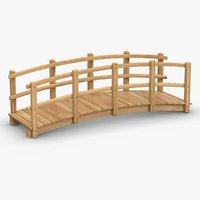 wooden bridge wood 3D