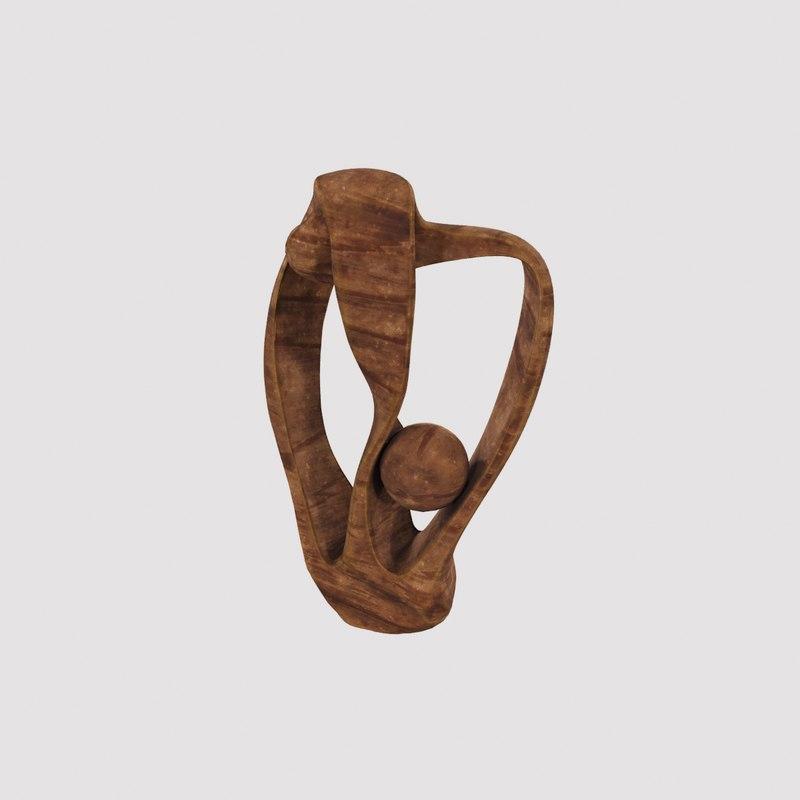 wood sculpture 3D model