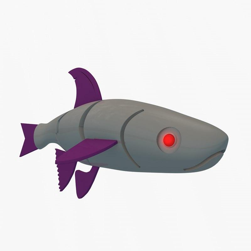 3D model mechanical fish