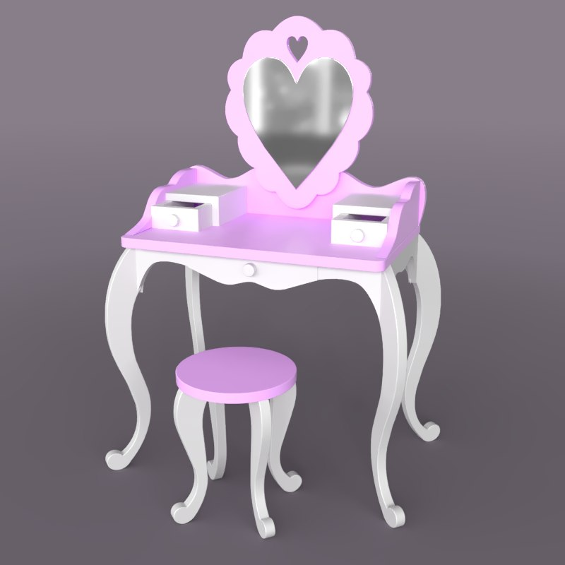 3D girl table