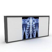 3D medical xray light box model