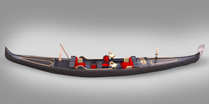 venice gondola gondol 3D model