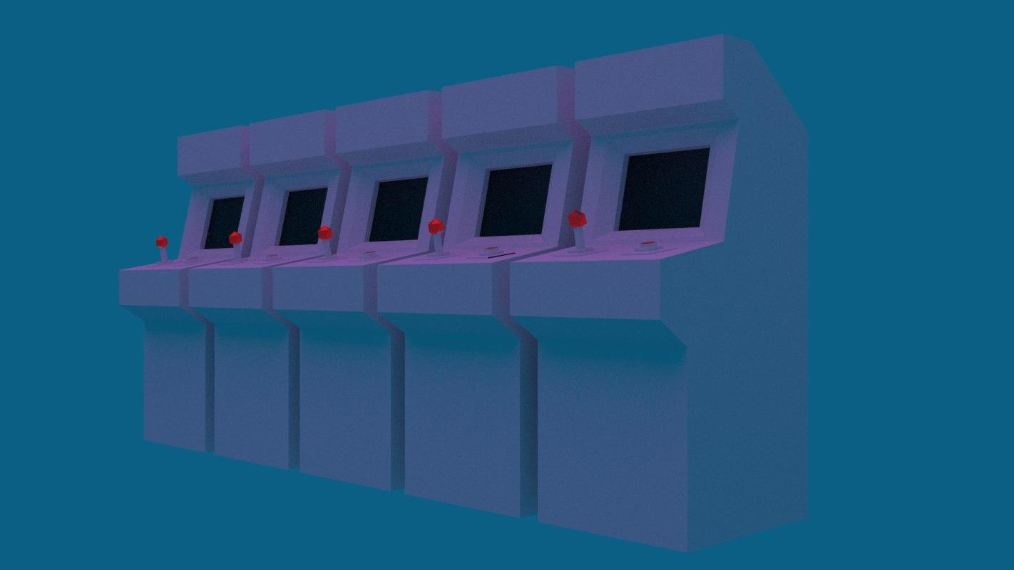 3D retro arcade model