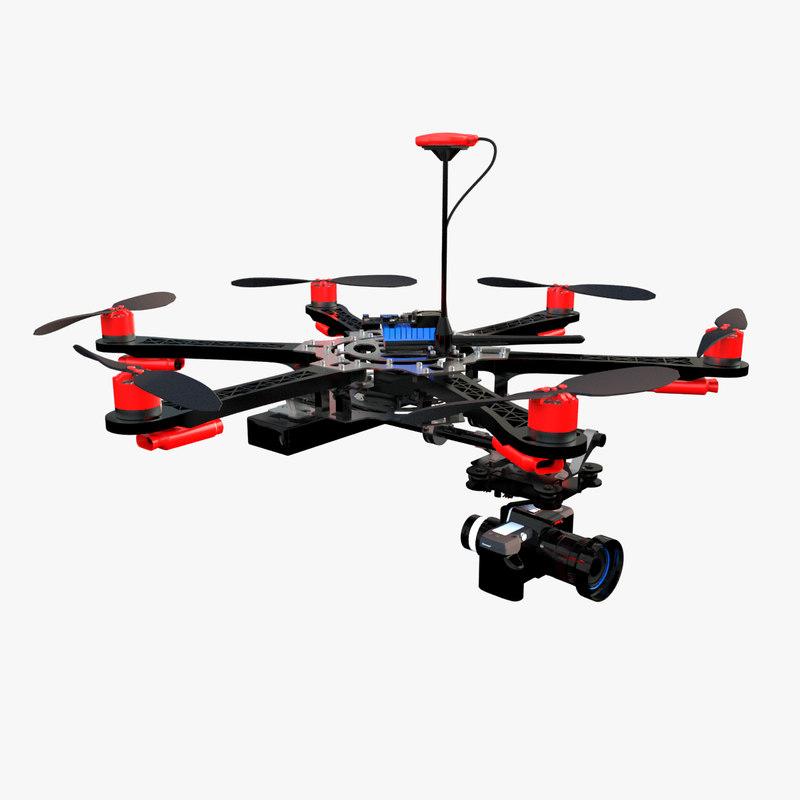 3D dron dji model